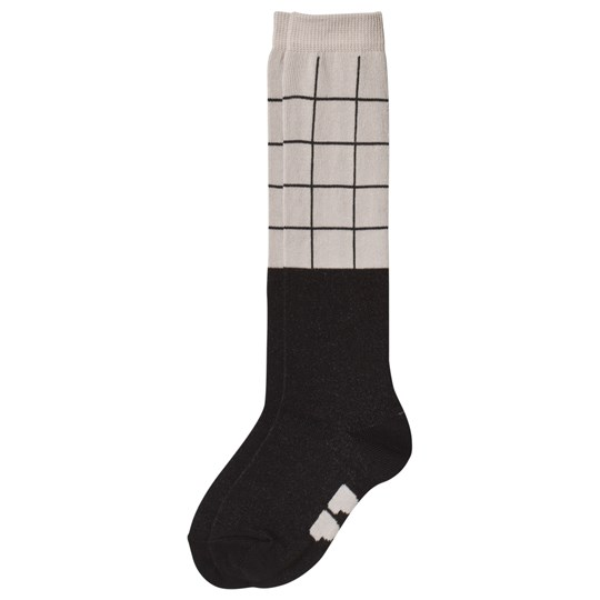 Papu Grid Knee Socks Sand/Black Multicolor