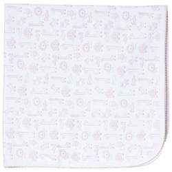 Kissy Kissy Pink Jungle Out There Print Blanket