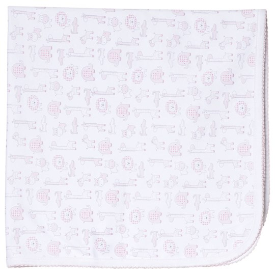 Kissy Kissy Pink Jungle Out There Print Blanket PINK JUNGLE OUT THERE