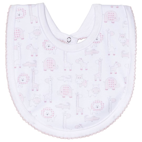Kissy Kissy Pink Jungle Out There Print Bib PINK JUNGLE OUT THERE