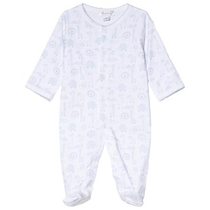 Image of Kissy Kissy Blue Jungle Out There Print Footed Baby Body 0-3 months (3056092235)