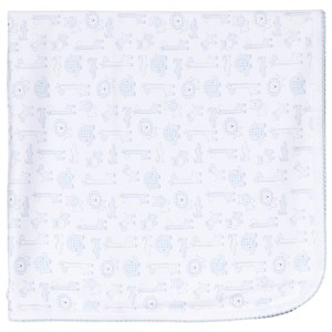 Image of Kissy Kissy Blue Jungle Out There Print Blanket (3056092239)