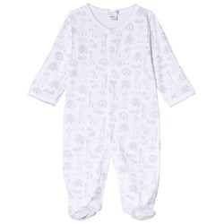 Kissy Kissy Grey Jungle Out There Print Footed Baby Body