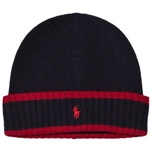 Image of Ralph Lauren Navy and Red Knit Hat with PP 5-6 years (3056113255)