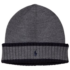 Image of Ralph Lauren Grey and Navy Knit Hat with PP 5-6 years (3056113259)