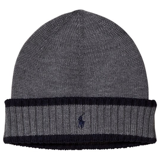 Ralph Lauren Grey and Navy Knit Hat with PP 002