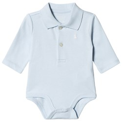 Ralph Lauren Blue Jersey Polo Baby Body with PP