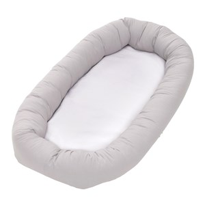 Image of Baby Dan Cuddle Nest Bed Minimizer Light Grey (3065504249)