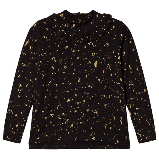Soft Gallery Fayenne Top Flakes Gold Jet Black Jet Black