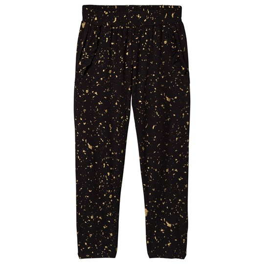 Soft Gallery Lucy Pants Flakes Gold Jet Black Jet Black