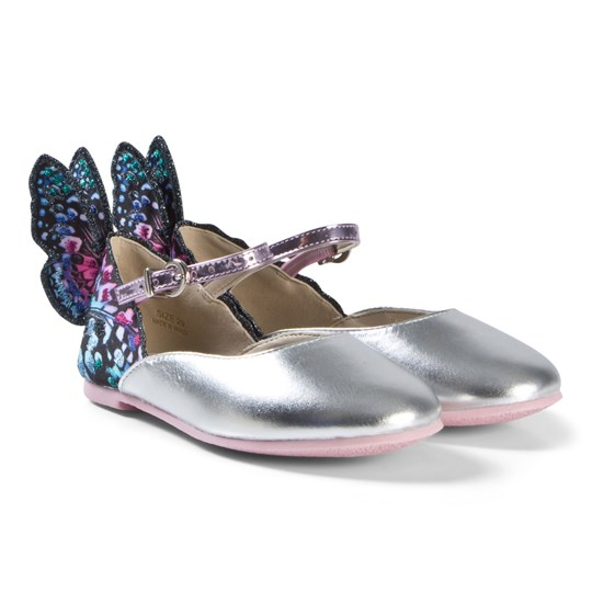 c49ae3d0a1cca Sophia Webster Mini - Silver and Blue Chiara Shoe with Butterfly ...