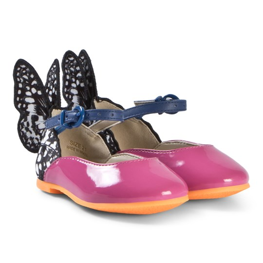 Sophia Webster Mini Pink and Monochrome Chiara Shoe with Butterfly Wings Pink & Monochrome