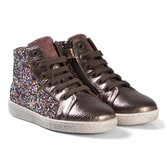 Bisgaard Shoes with Laces Multi Glitter MULTI GLITTER