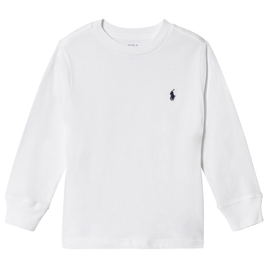 Ralph Lauren White Long Sleeve Tee with PP 002