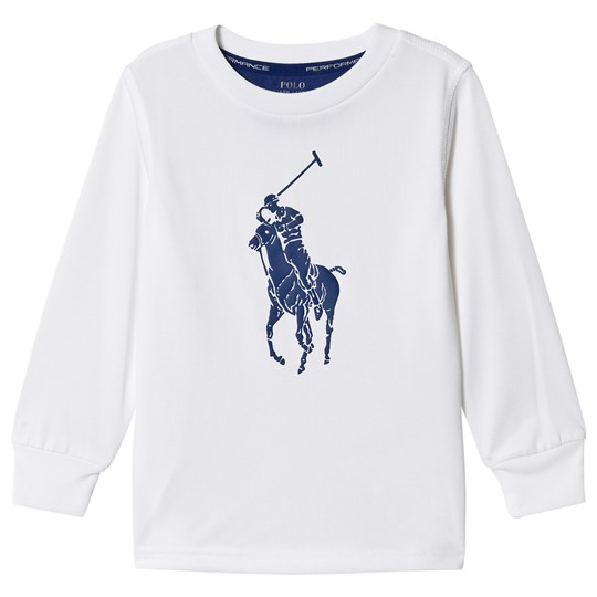 Ralph Lauren White Polo Tech Long Sleeve Tee 005