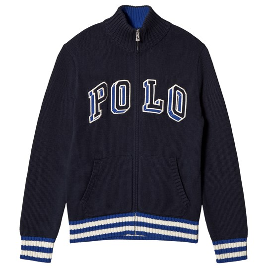 Ralph Lauren Navy Polo Logo Zip Sweater 002