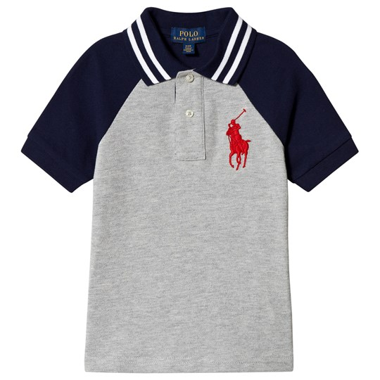 Ralph Lauren Navy and Grey Big Pony Bi Color Polo 001