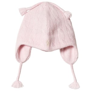 Image of Ralph Lauren Pink Cable Knit Earflap Hat 12-24 months (3056113595)