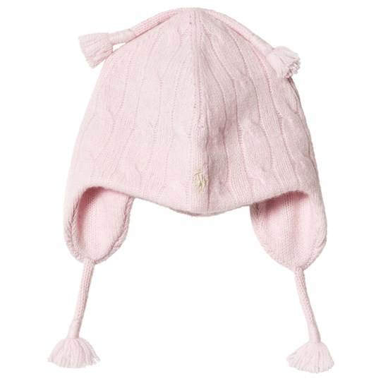 Ralph Lauren Pink Cable Knit Earflap Hat 002