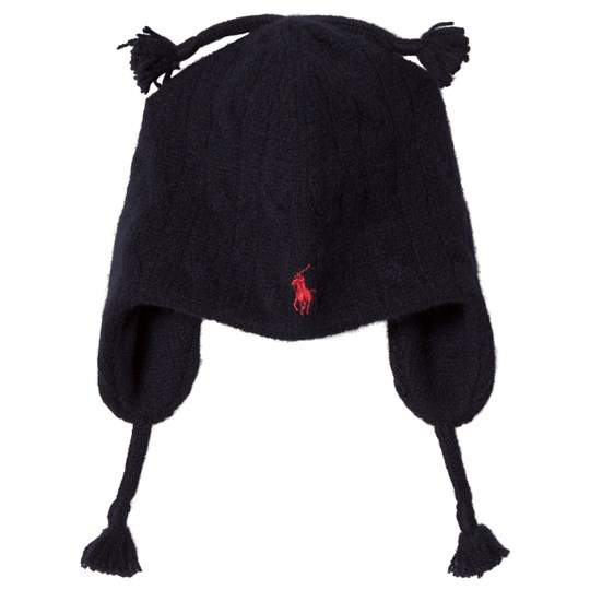 Ralph Lauren Navy Cable Knit Earflap Hat 003