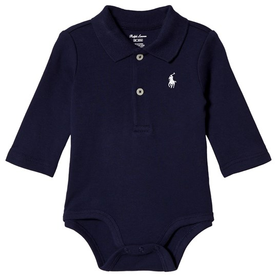 Ralph Lauren Navy Jersey Polo Baby Body with PP 002