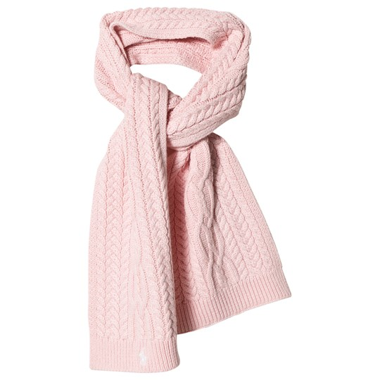 Ralph Lauren Pink Cable Knit Scarf with PP 002