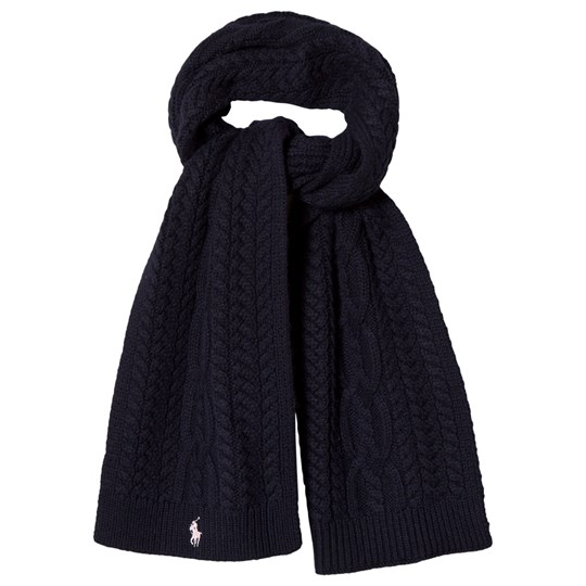 Ralph Lauren Navy Cable Knit Scarf with PP 001