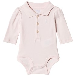 Ralph Lauren Pink Jersey Polo Baby Body with PP
