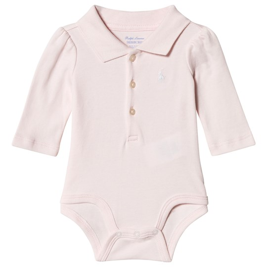 Ralph Lauren Pink Jersey Polo Baby Body with PP 001
