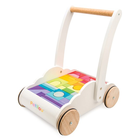 Le Toy Van Petilou Rainbow Cloud Lära-gå-vagn White