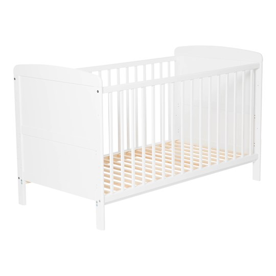 JOX Adjustable Cot Bed White L140 x B70