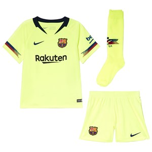 Image of Barcelona FC Yellow Breathe FC Barcelona Away Kit L (6-7 years) (3056110483)