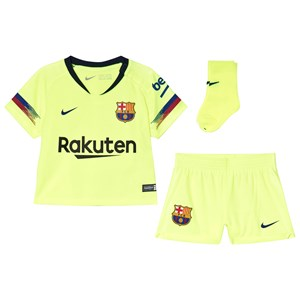 Image of Barcelona FC Yellow Breathe FC Barcelona Away Infants Kit 12-18 months (3056110495)