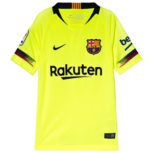 Image of Barcelona FC Yellow Breathe FC Barcelona Stadium Away Football Jersey L (12-13 years) (3056110473)