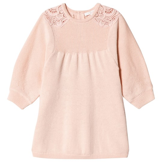 Chloé Pink Knit Lace Detail Dress 438
