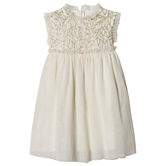Billieblush White and Silver Glitter Occasion Dress Z98