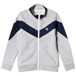 Timberland Grey and Navy Tree Logo Zip Thru Track Jacket