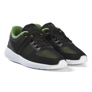 Image of BOSS Black and Lime Mesh Branded Trainers 35 (UK 2) (3056075181)
