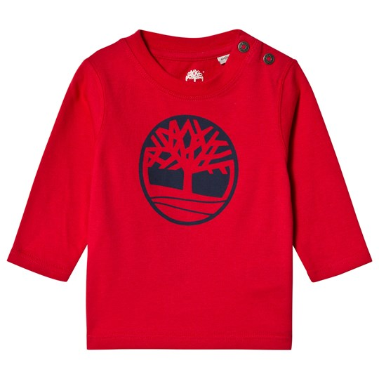 Timberland Red Tree Logo Long Sleeve Tee 971