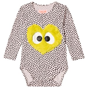 Image of BANGBANG Copenhagen Cream Spotted Baby Body with Happy Heart 6-9 months (3056069037)