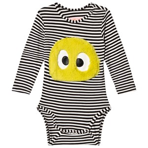 Image of BANGBANG Copenhagen Black and White Striped Baby Body with Face 3-6 months (3056069049)