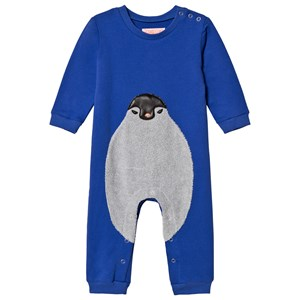 Image of BANGBANG Copenhagen Blue One-Piece with Penguin 3-6 months (3056069079)