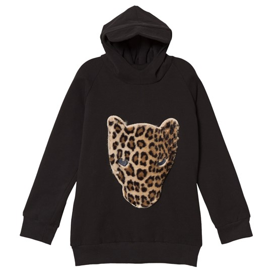 Wauw Capow Black Hoodie with Leopard Face Black