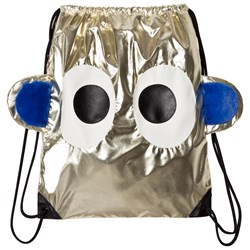 BANGBANG Copenhagen Metallic Gold Face Drawstring Backpack