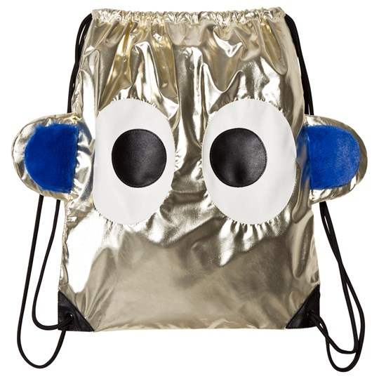 BANGBANG Copenhagen Metallic Gold Face Drawstring Backpack Gold
