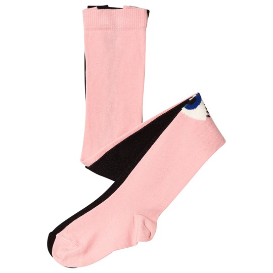 Wauw Capow Black and Pink Eye Tights Black