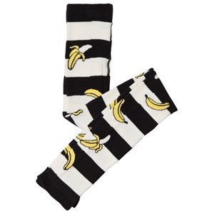 Image of Wauw Capow Black and White Tights with Bananas 6-12 months (3056070145)