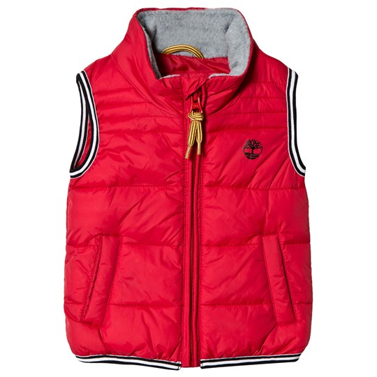 Timberland Red Water Repellent Logo Gilet 971