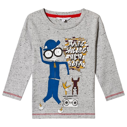 Little Marc Jacobs Grey Long Sleeve Mister Marc Tee A35