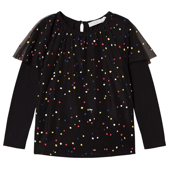 Stella McCartney Kids Black Popcorn Blouse with Multicolour Dots 1081 - Multicolor Dots Pr
